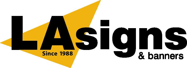 LA Signs & Banners Logo - Black